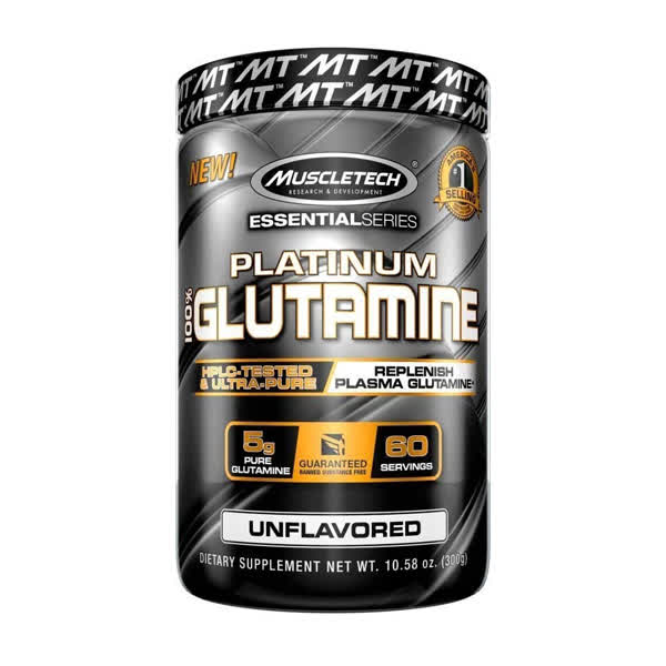 Muscletech Essential Series Platinum 100% Glutamine 302gms