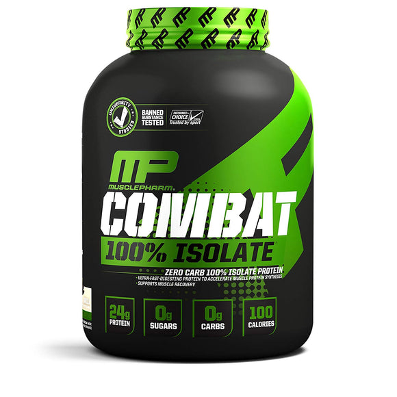 MusclePharm Combat 100% Isolate, 5 lb Vanilla