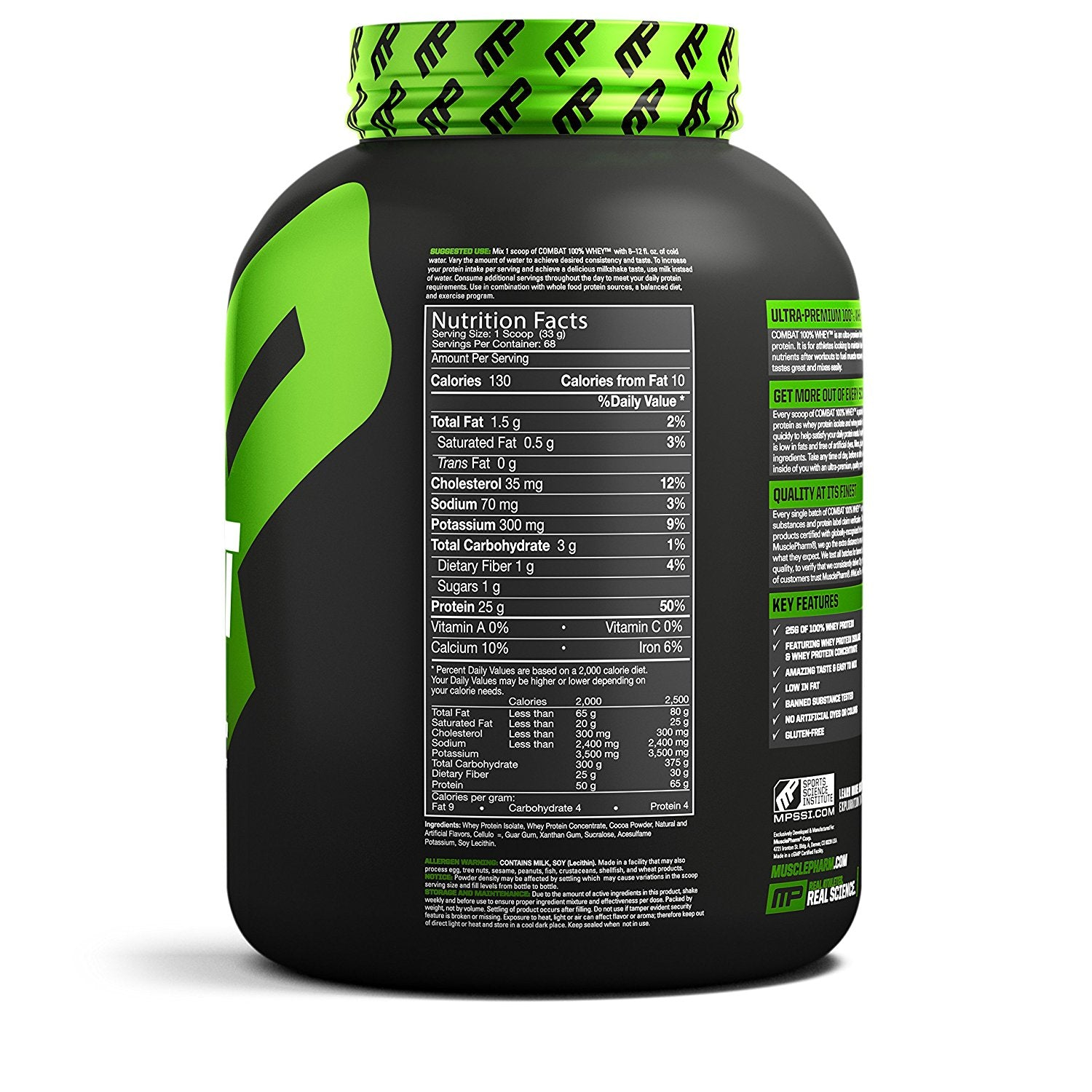 MusclePharm Combat 100% Whey, 5 lb cappuccino