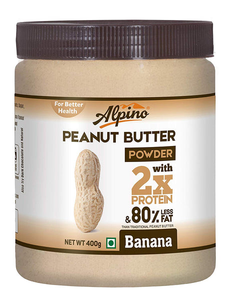 ALPINO NATURAL PEANUT BUTTER POWDER, 400G [PACK OF 12]