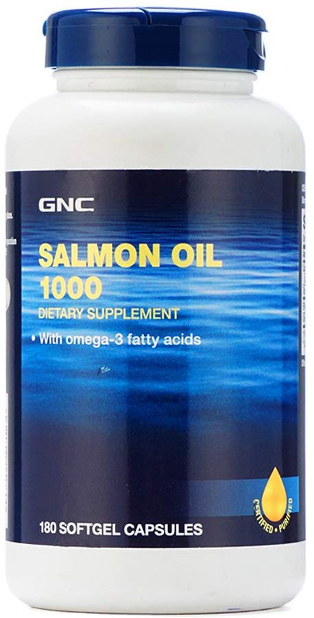GNC Salmon Oil 1000 MG Softgel [180 Capsules]