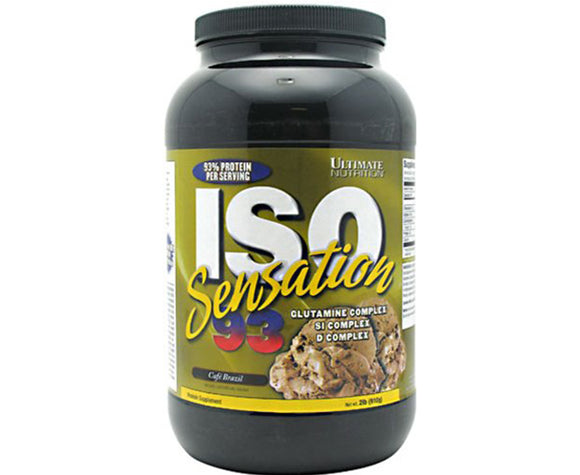 Ultimate Nutrition ISO Sensation - cafe brazil - 2Lbs