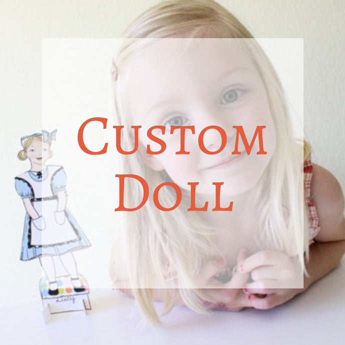Paper Dolls - Personalized Custom Paper Doll A La Carte
