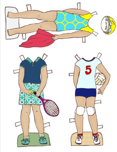 Paper Dolls - Girls in Sports Paper Doll Bundle