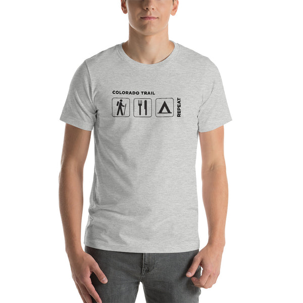 Men's Colorado Trail - Hike, Eat, Sleep, Repeat T-Shirt
