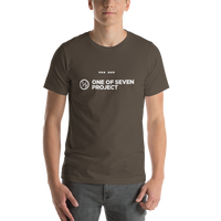 Men's One of Seven Project logo t-shirt 1/7 project clothing