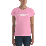 Women's One of Seven Project logo T-shirt 1/7 project clothing