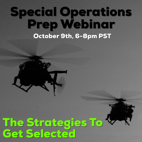 Special Operations Preparation October 9th 6-8PM PST Live -or- Recording