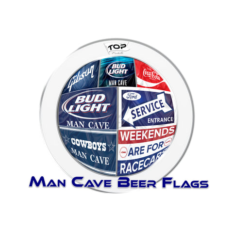 Man Cave and Beer Flags