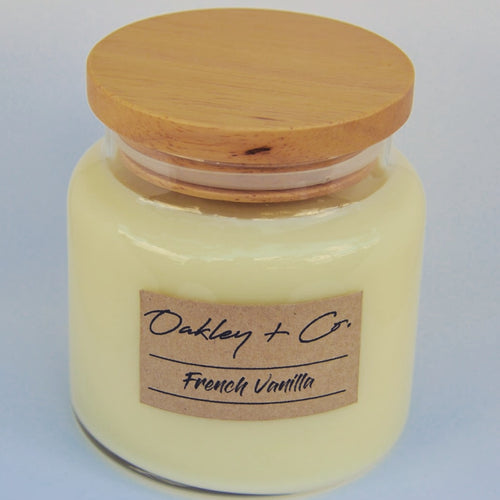 FRENCH VANILLA - 450g Soy Candle with Wooden Lid