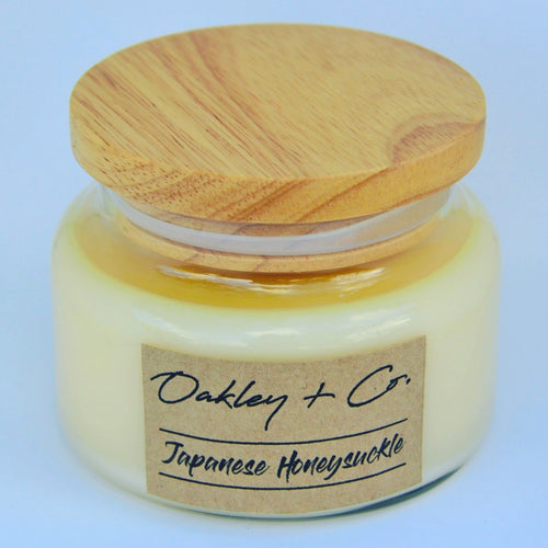 JAPANESE HONEYSUCKLE - 300g Soy Candle with Wooden Lid