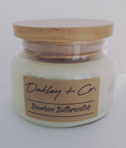 BOURBON BUTTERSCOTCH - 300g Soy Candle with Wooden Lid