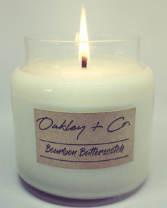 BOURBON BUTTERSCOTCH - 450g Soy Candle with Wooden Lid