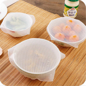 Set 3 Films alimentaire de protection en Silicone extensible