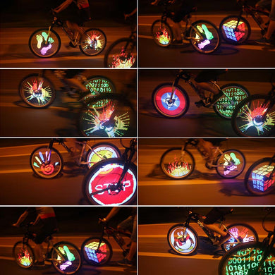 Animation LED programmable de roue de velo