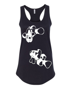 Panda Fish Black Tank top