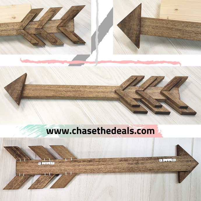 Handmade Distressed Farmhouse Wooden Arrow Picture Sign