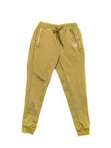 Embroidered Joggers - Gold