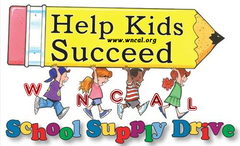 WNCAL Kids - School SUpply Drive