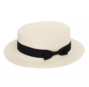 Brimmed Straw Hat | White