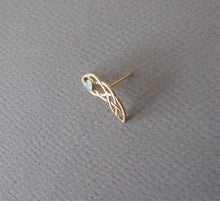 Gold Plated Silver Celtic Ear Piercing with Personalized Gemstone
