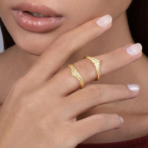 Solid Gold Double Knuckle Ring