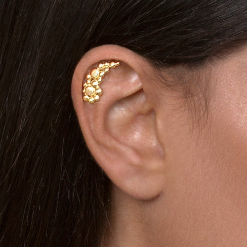 Gold Plated Silver Bubbles Cartilage Earring