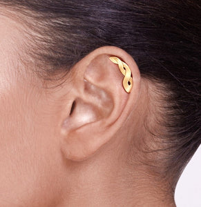 14k Gold Braided Celtic Cartilage Earring