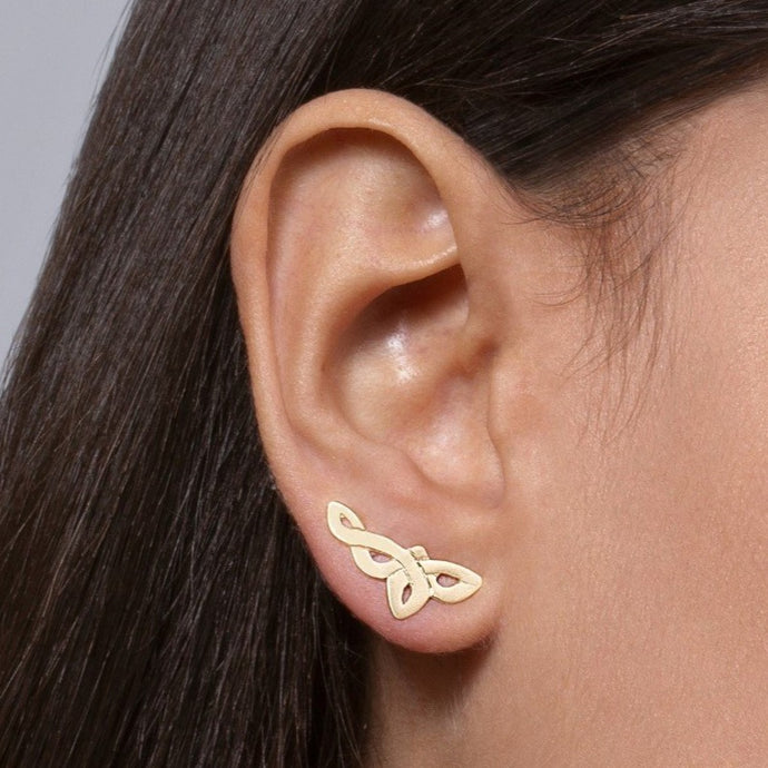 14k Gold Celtic Ear Climbers