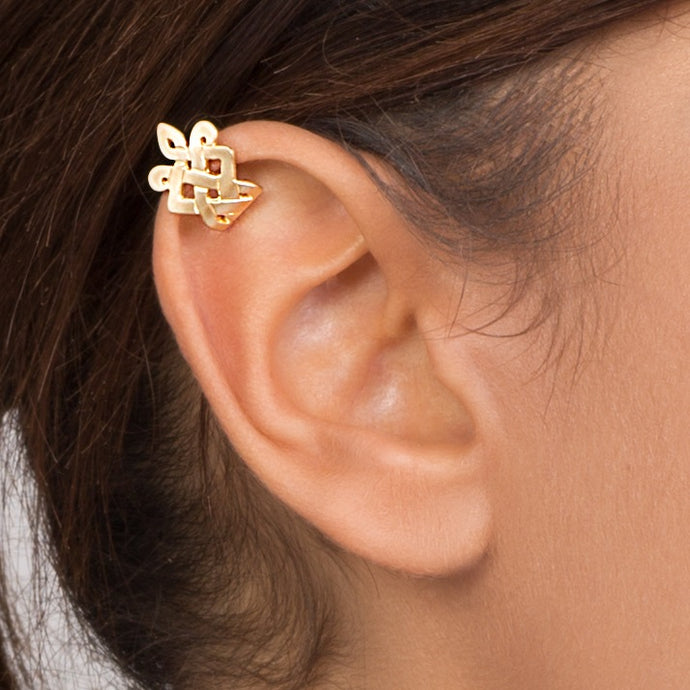 14k Gold Celtic Ear Cuff