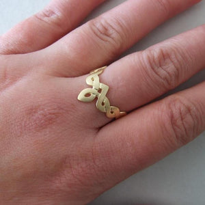 14k Gold Celtic V Ring