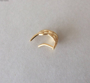 Gold Plated Silver Celtic Moon Faux Nose Ring