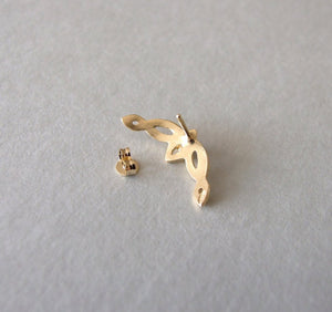 14k Gold Celtic Helix Earring with Personalized Gemstone
