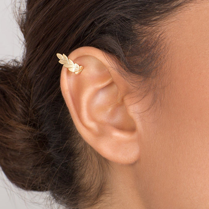 14k Gold Wheat Ear Cuff