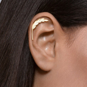14k Gold Wheat Cartilage Earring
