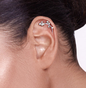 Silver Berries Cartilage Stud