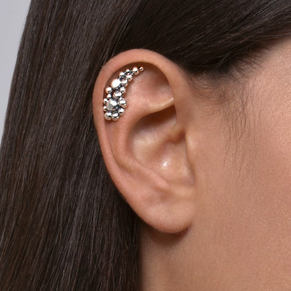 Silver Bubbles Cartilage Earring