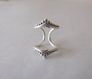 Silver Double Knuckle Ring