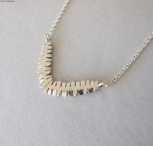Silver Fern Leaves Necklace