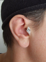 14K White Gold Woodland Tragus Earring
