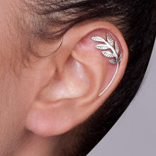 Silver Leaves Helix Earring