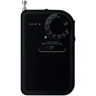 SYLVANIA(R) SRC100-BLACK Portable AM/FM Radio (Black)
