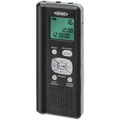 JENSEN(R) DR-115 4GB Digital Voice Recorder with microSD(TM) Card Slot