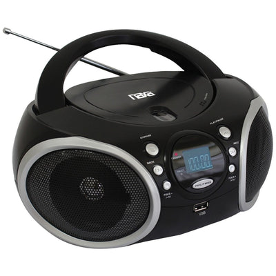 Naxa(R) NPB-276 Portable MP3/CD Player with AM/FM Analog Radio & USB Input
