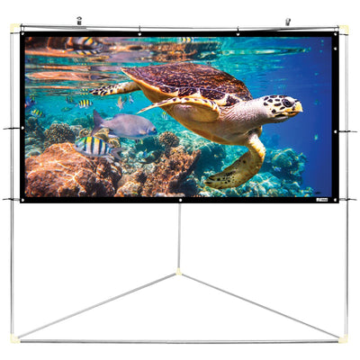 "Pyle Home(R) PRJTPOTS101 Portable Outdoor Projection Screen (100"""")"