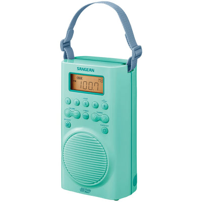 Sangean H205TQ AM/FM/Weather Alert Waterproof Shower Radio (Turquoise)