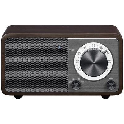 Sangean WR-7DK WR-7 Series Mini Wood-Cabinet Bluetooth(R) Speaker with FM Tuner (Dark Cherry)