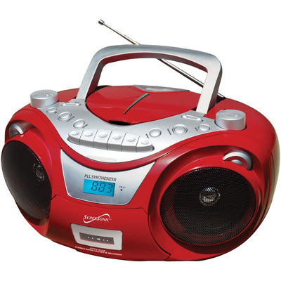 Supersonic(R) SC-739BT RED Portable Bluetooth(R) Audio System (Red)