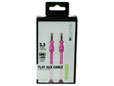 iEssentials Pink Flat Aux Cable 1 Meter