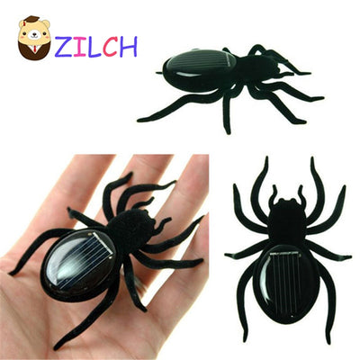 Educational Robot Scary Insect Gadget Trick Toy Solar Spider Tarantula Solar Toy juegos solares Kids Toy Robot Toy Free Shipping